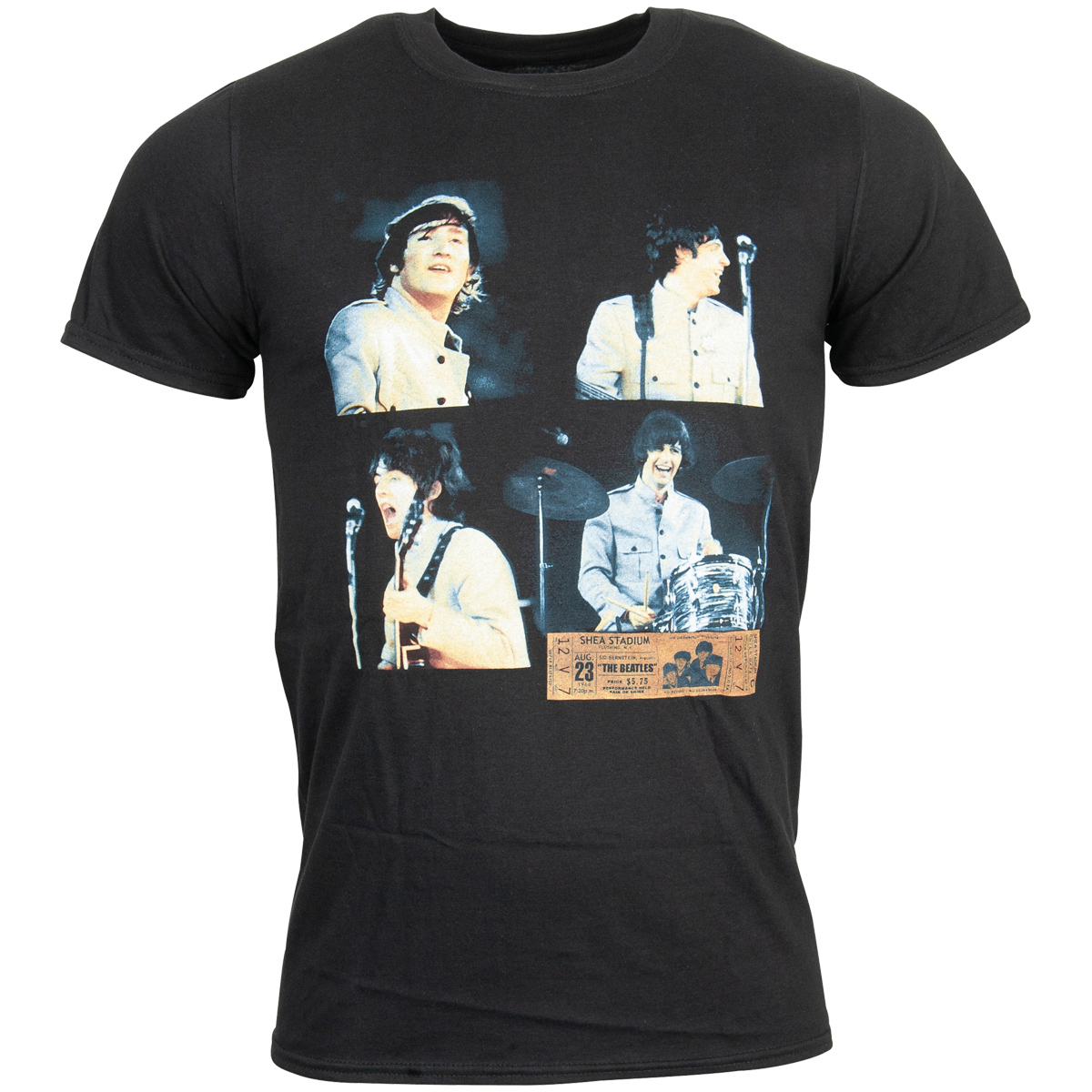 The Beatles - Shea Stadium Shots T-Shirt - schwarz