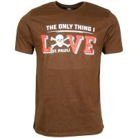 FC St. Pauli - T-Shirt Love - braun