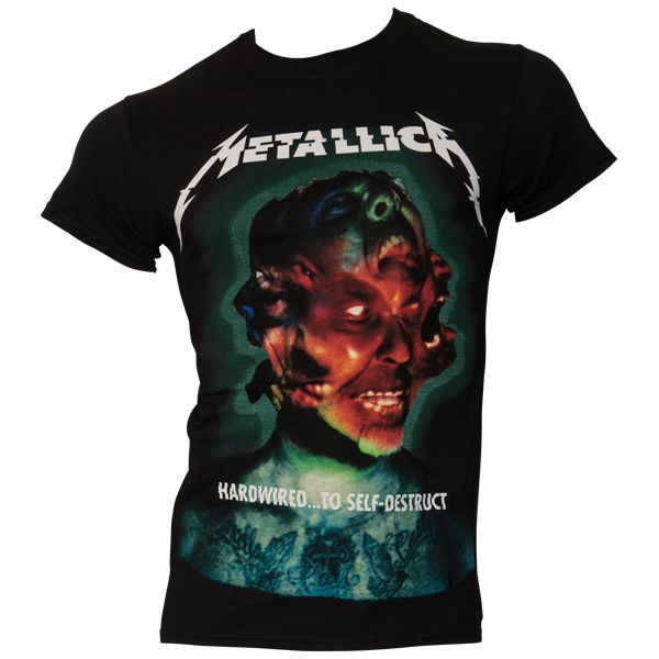 Metallica - T- Shirt Hard Wired Album Cover - schwarz
