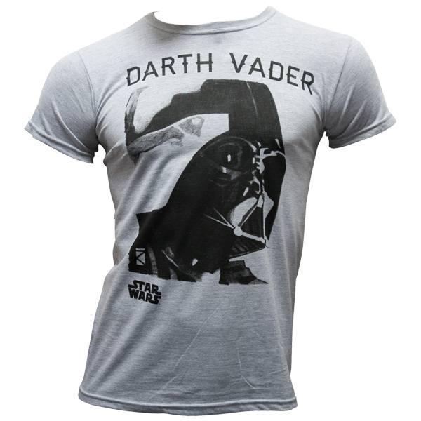 """Star Wars - T-Shirt """"Darth Vader Portrait"""" - graumeliert"""