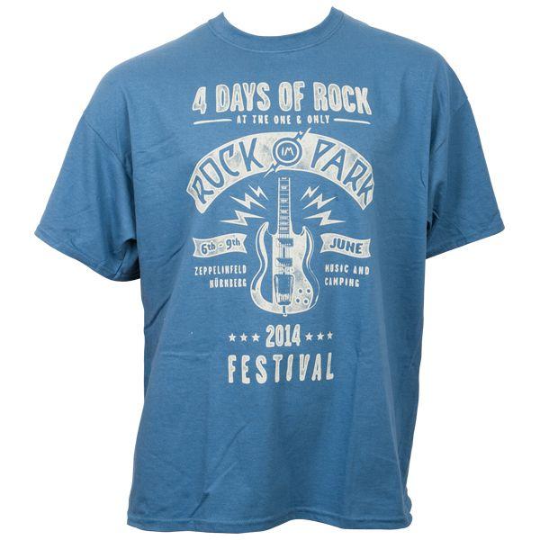 Rock im Park 2014 - T-Shirt 4 Days Of Rock mit Line-Up - blau