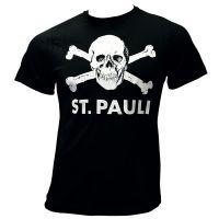 FC St. Pauli - T-Shirt Totenkopf - schwarz