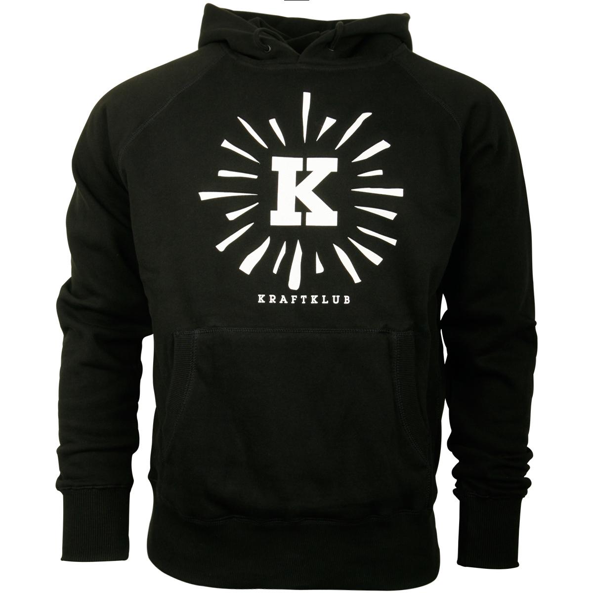 Kraftklub - Kapuzenpullover Leuchtendes K - schwarz