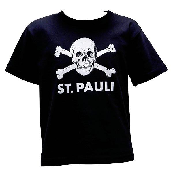 Schriftzug auf der Brust und auf der Seite Gr/ö/ße 92 bis 176 Fu/ßball Fanartikel Fanshop Pauli seitlich Kinder T-Shirt St