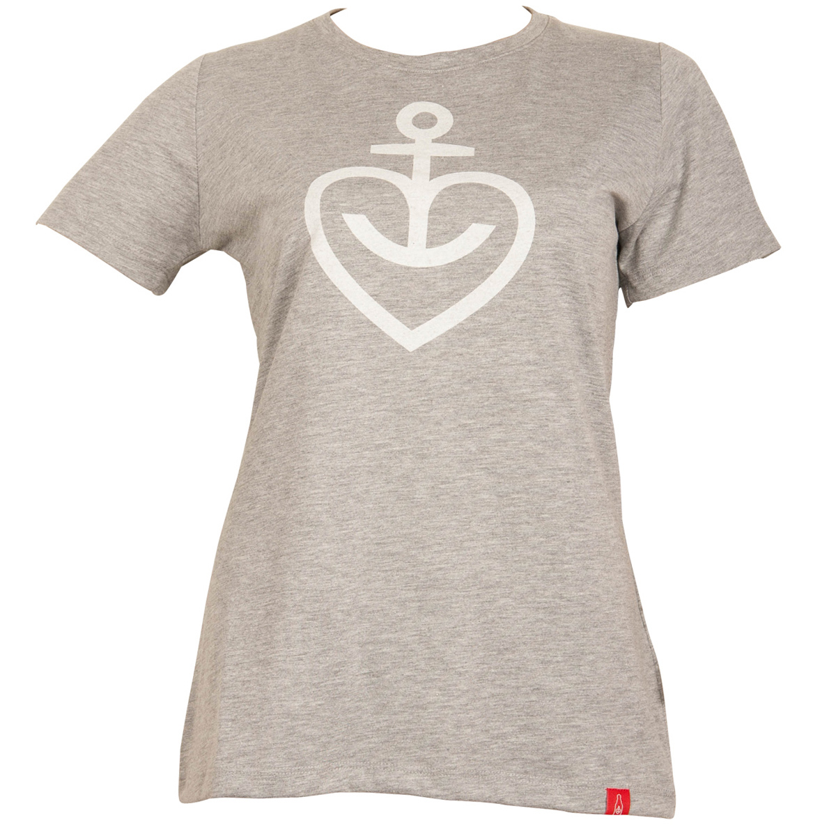 Astra - Damen T-Shirt Herzanker - grau