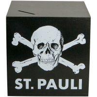 FC St. Pauli - Spardose mit Totenkopf - schwarz