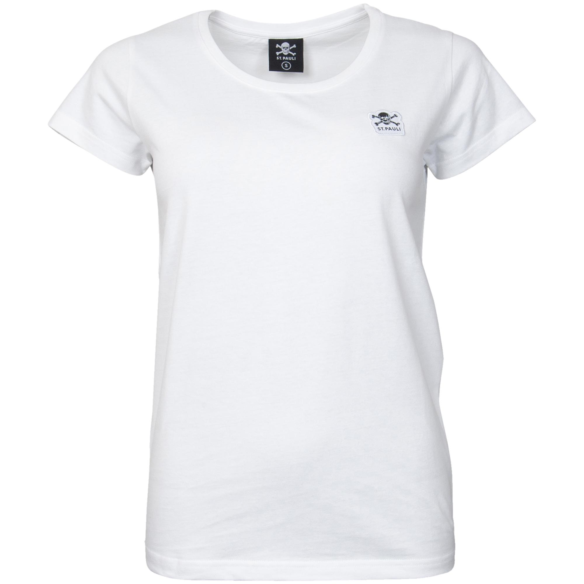 FC St. Pauli - Damen T-Shirt Basic Totenkopf - weiß
