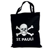 FC St. Pauli - Stofftasche Totenkopf - Bio-Baumwolle - schwarz