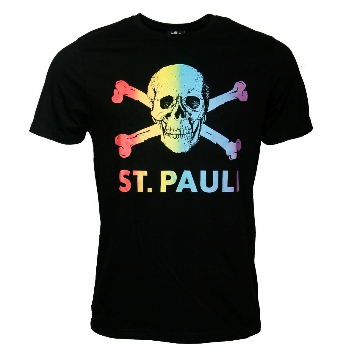 FC St. Pauli - T-Shirt Regenbogen CSD - schwarz