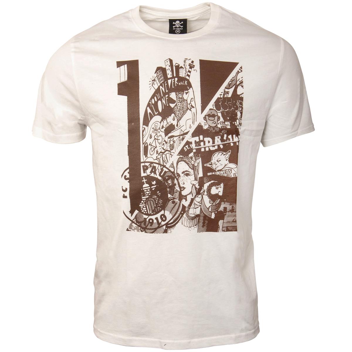 9d66783c392b0 FC St. Pauli - White T-Shirt Art | ROCKnSHOP
