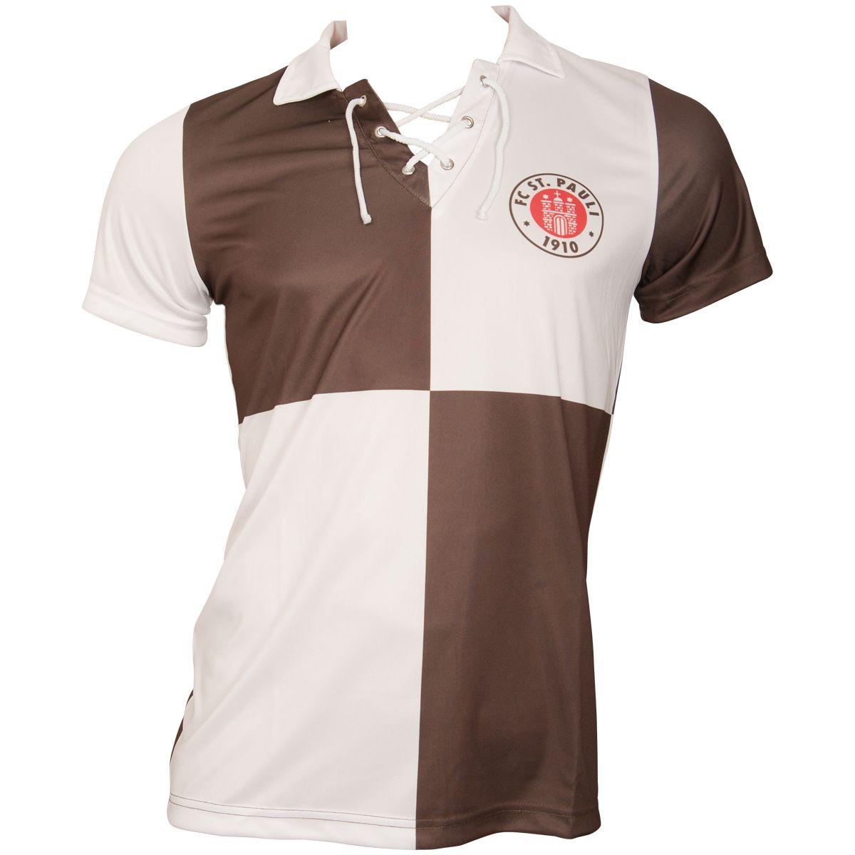 FC St. Pauli - Retrotrikot 1991-92 - braun-weiß