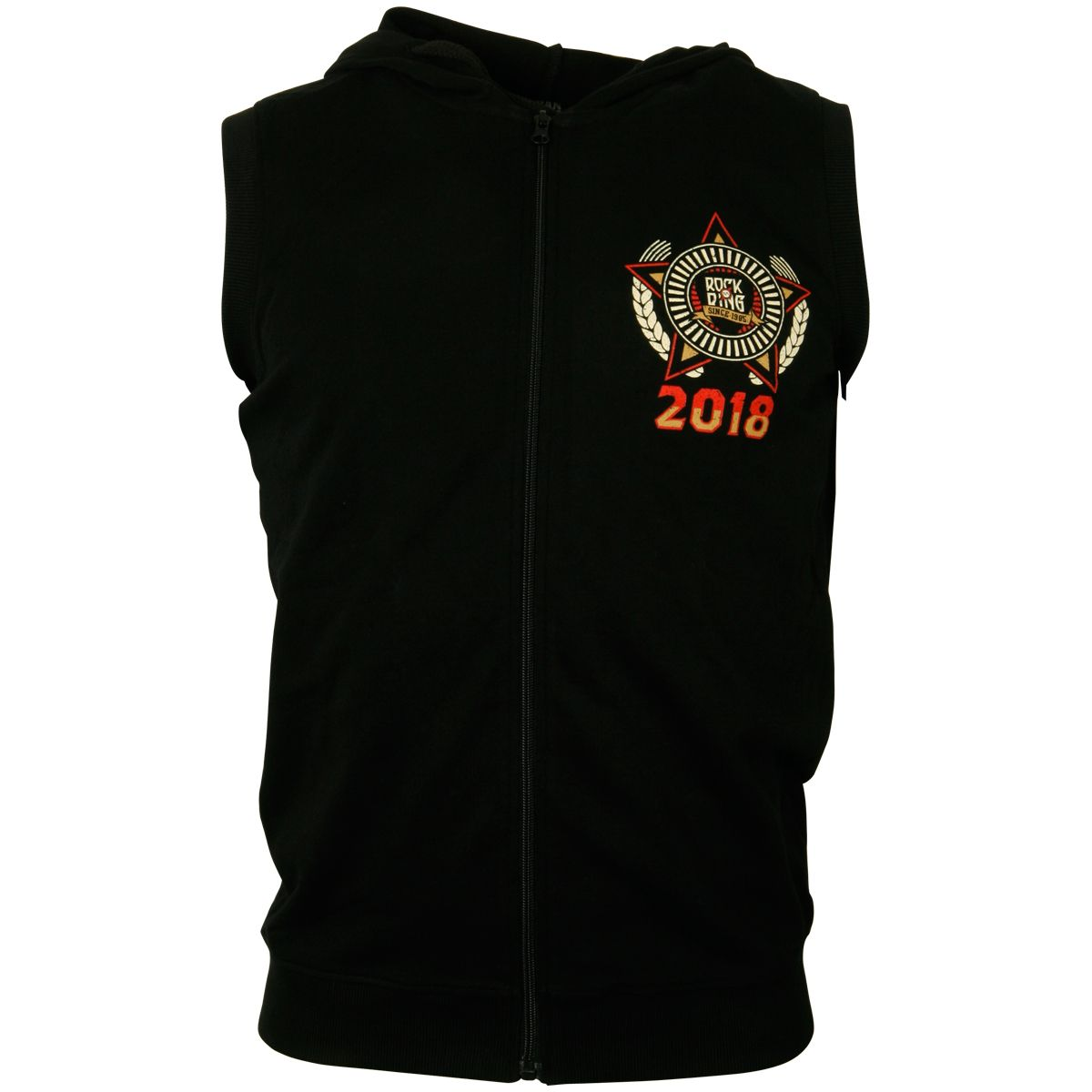Offizielles Rock am Ring 2018 - Sleeveless Hoodie Spike Star - schwarz - limitiert