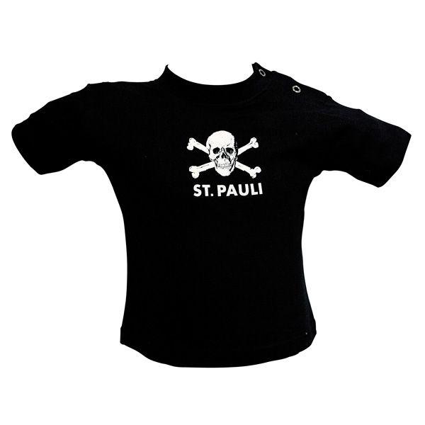 FC St. Pauli - Baby T-Shirt Totenkopf - schwarz
