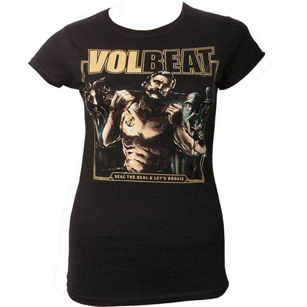 volbeat girlie t shirt seal the deal lets boogie. Black Bedroom Furniture Sets. Home Design Ideas