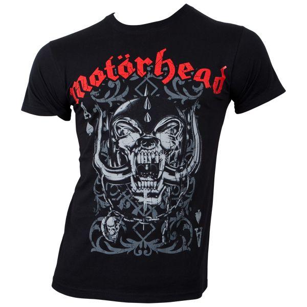Motörhead - T-Shirt Playing Card - schwarz