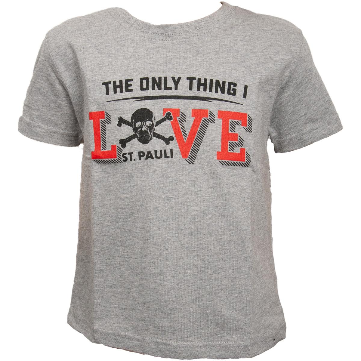 FC St. Pauli - Kinder T-Shirt Love - grau