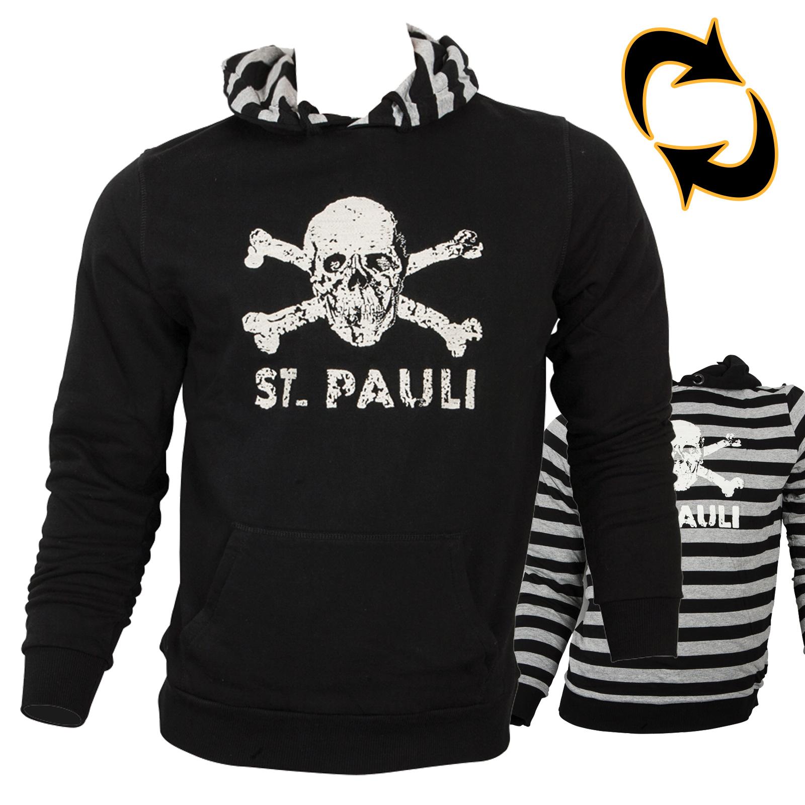 FC St. Pauli - Hoodie Totenkopf - Wende Applikation - unisex