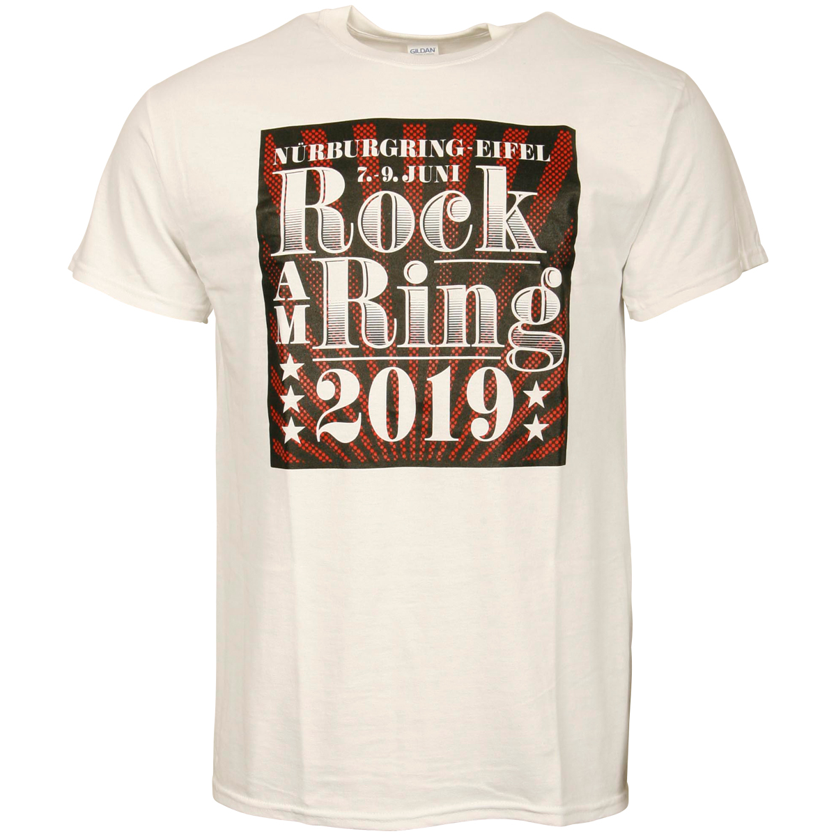Rock am Ring 2019 -T-Shirt Classic Typo White - weiß
