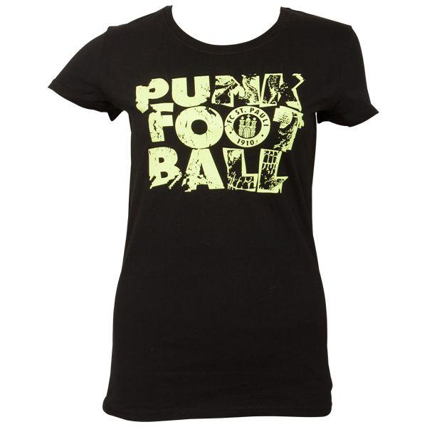 FC St. Pauli - Frauen T-Shirt Punkfootball - schwarz