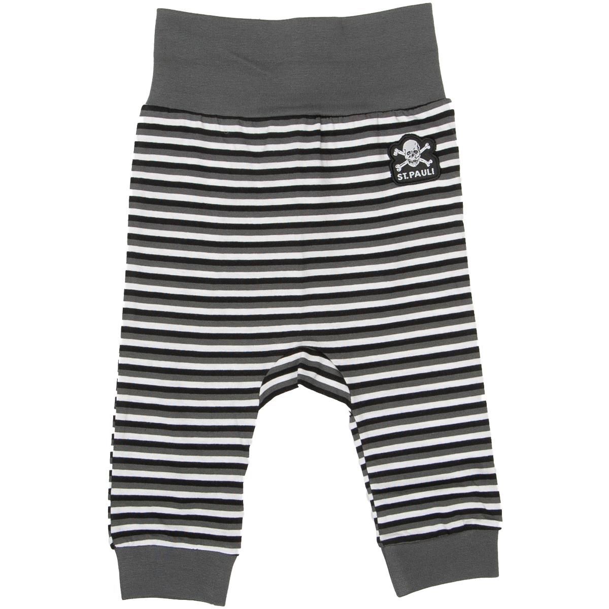 FC St. Pauli - Baby Hose Streifen - grau-weiß
