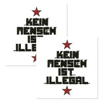 FC St. Pauli - Fliesenaufkleber Kein Mensch ist Illegal 2er Set