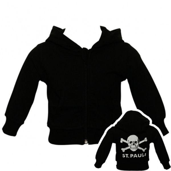 FC St. Pauli - Baby Kapuzenjacke Totenkopf - schwarz