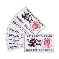 FC St. Pauli - Aufkleber Gegen Rechts - 50 Stück