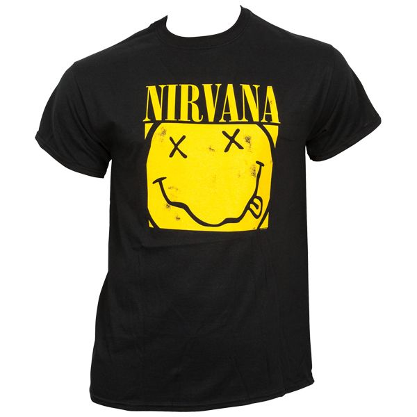 Nirvana - T-Shirt Box Smiley - schwarz