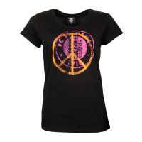 FC St. Pauli - Damen T-Shirt Peace Rot-Orange