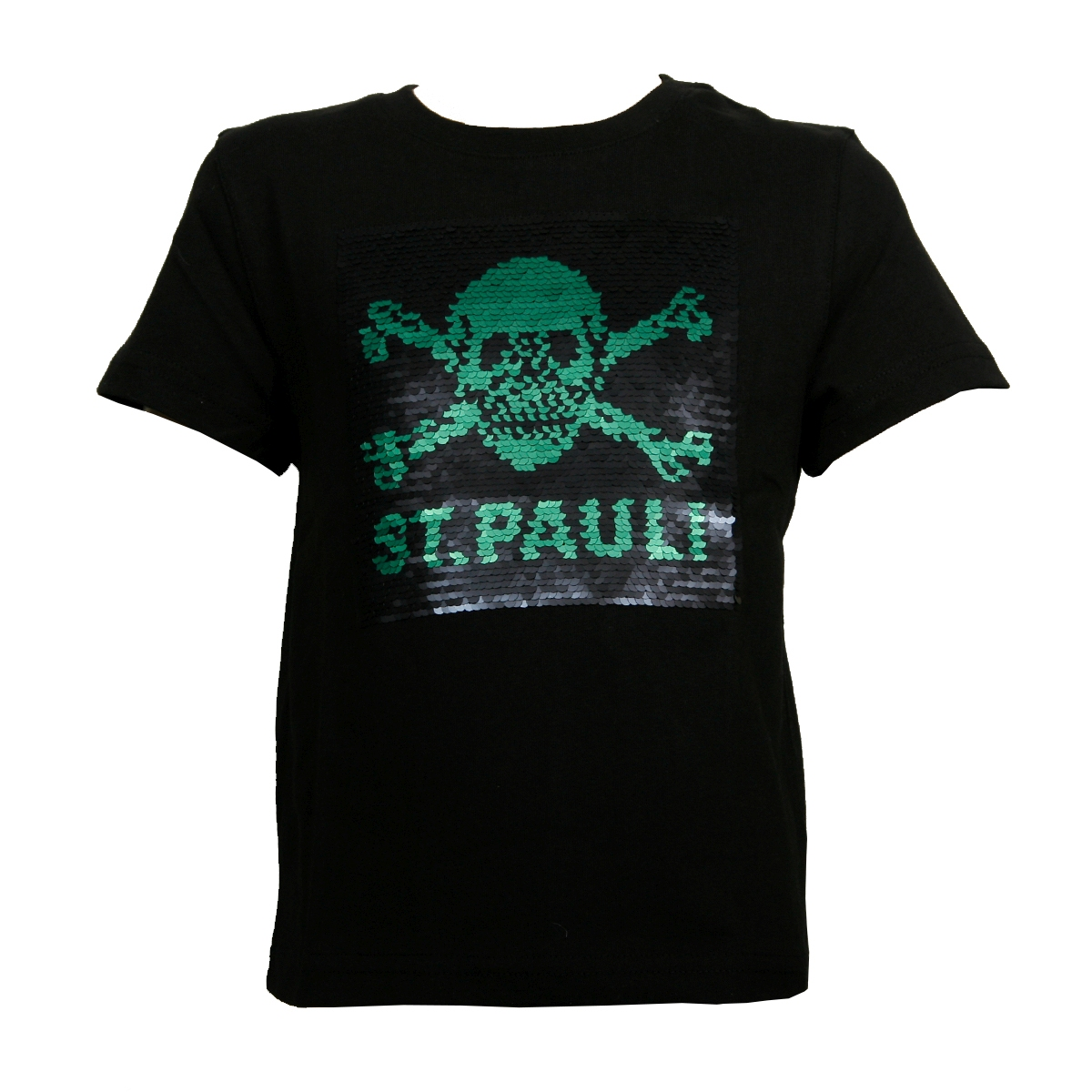 FC St. Pauli - Kinder T-Shirt Black Matte Totenkopf - schwarz