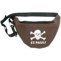 FC St. Pauli - Bauchtasche Totenkopf Brown Melange