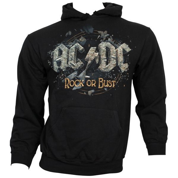ac dc kapuzenpullover rock or bust schwarz rocknshop. Black Bedroom Furniture Sets. Home Design Ideas