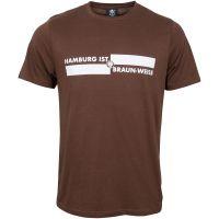 FC St. Pauli - T-Shirt Hamburg ist Braun-Weiss