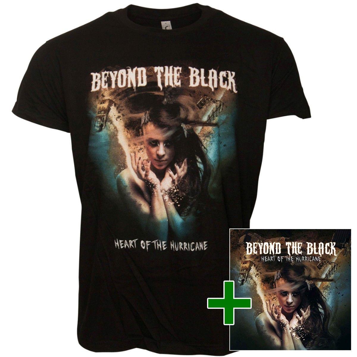 Beyond The Black - Set CD + Tour Shirt Heart Of The Hurricane