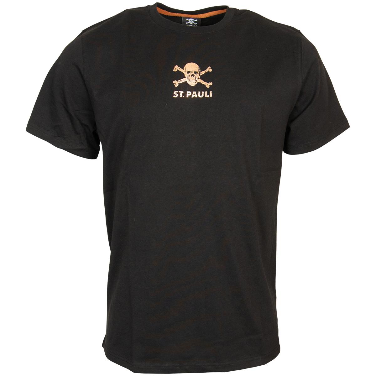 FC St. Pauli - T-Shirt Coppergold - schwarz