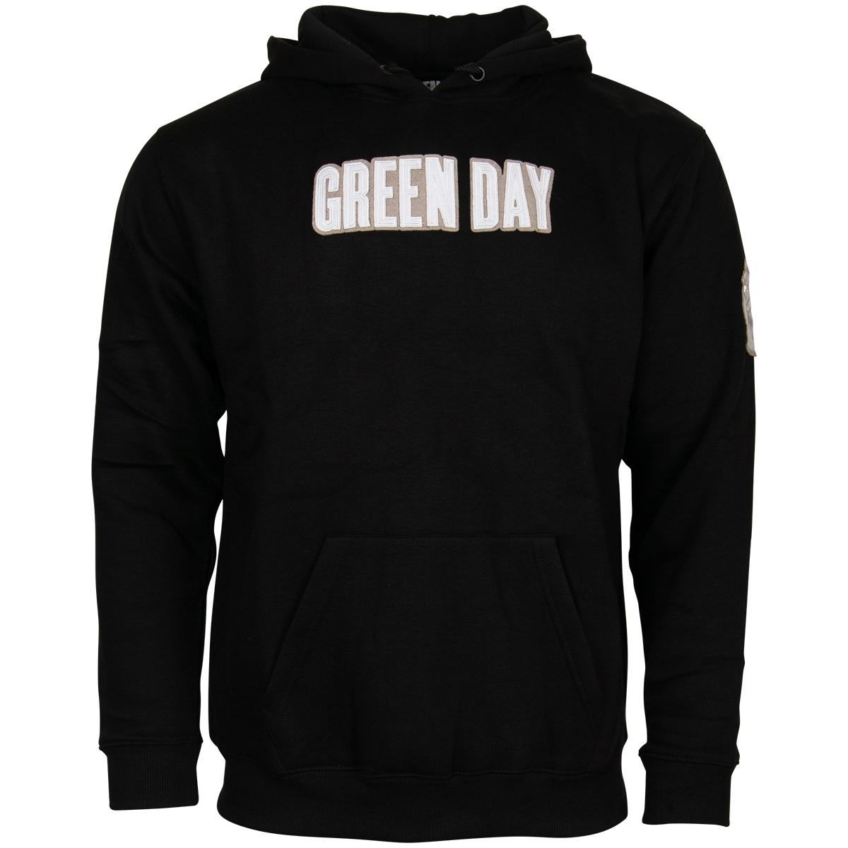Green Day - Hoodie Logo & Grenade - schwarz