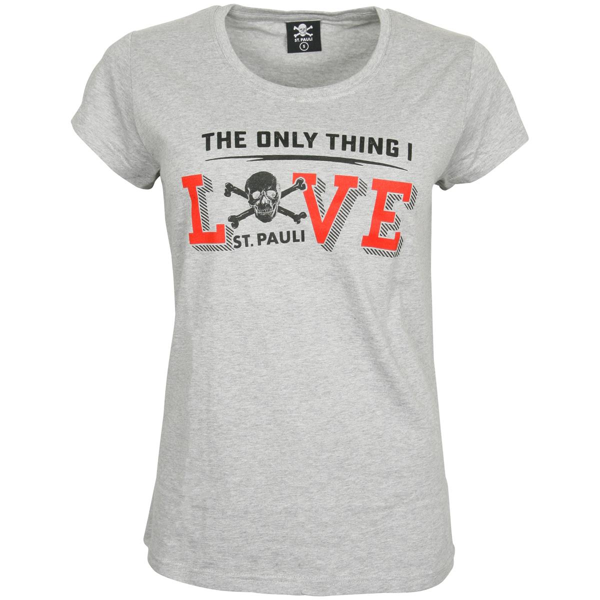 FC St. Pauli - Damen T-Shirt Love - grau