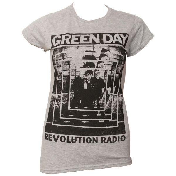 Green Day - Frauen T-Shirt Power Shot - grau