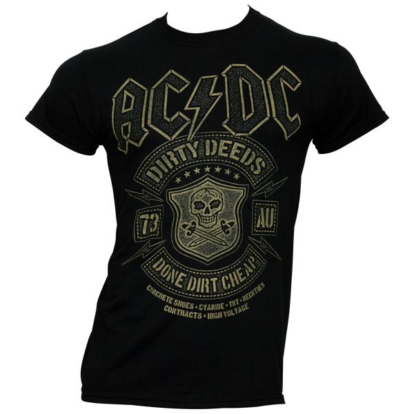 AC/DC T-Shirt Black Done Cheap - schwarz