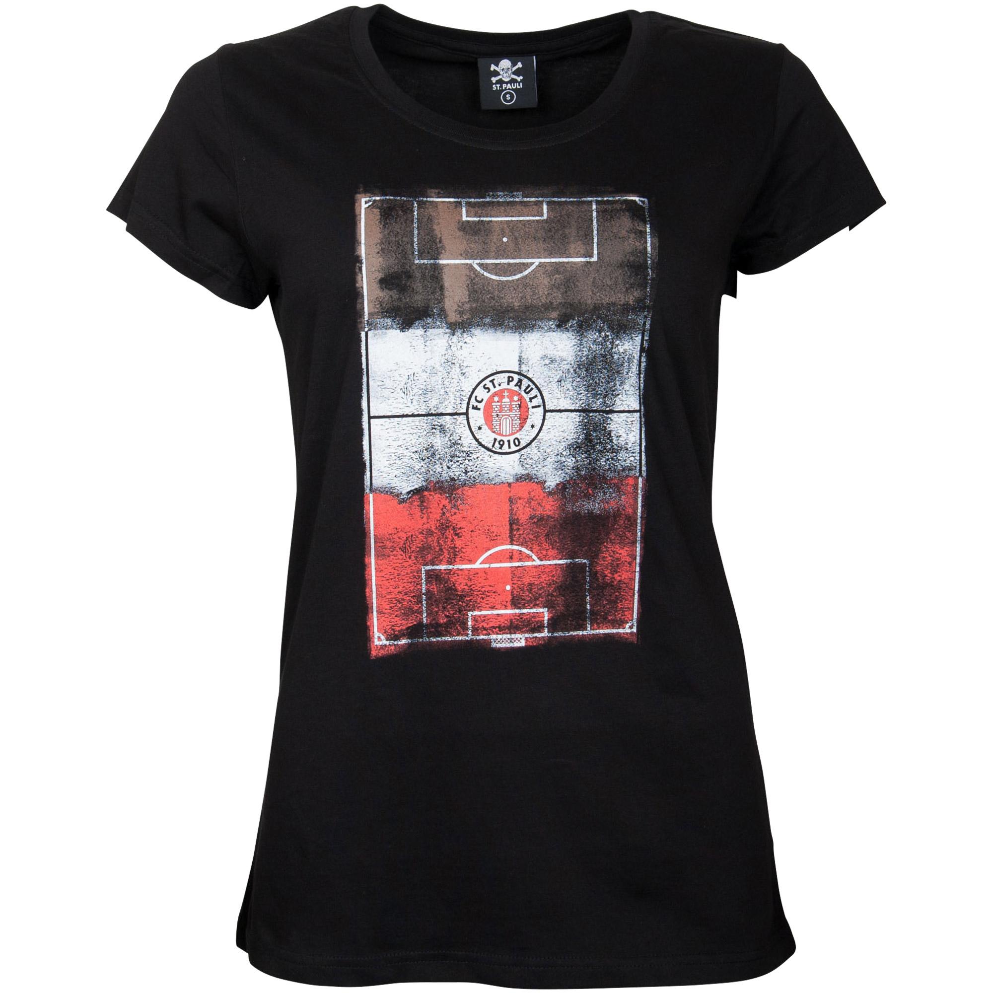 FC St. Pauli - Damen T-Shirt Millerntor Logo - schwarz