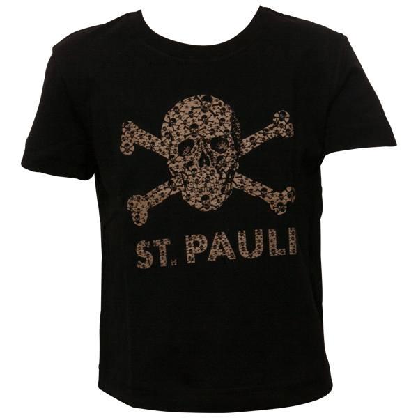 FC St. Pauli - Kinder T-Shirt Totenkopf Schädel - Schwarz-Braun
