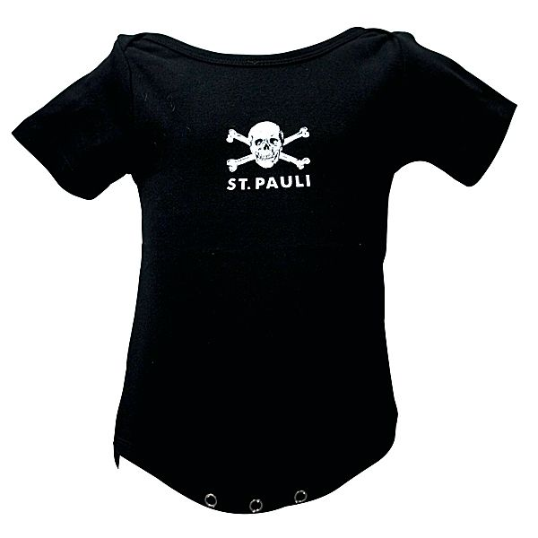 FC St. Pauli - Baby Body Totenkopf - schwarz