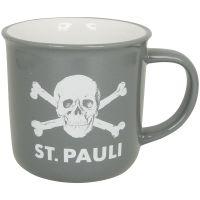 FC St. Pauli - Kaffeebecher Grau-Weiß