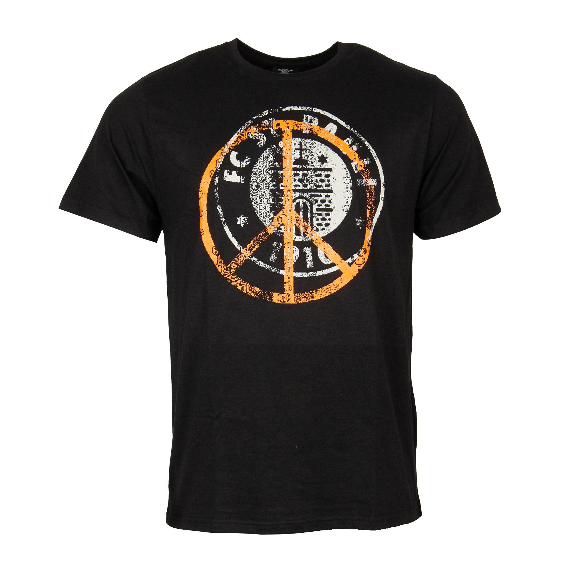 FC St. Pauli - T-Shirt Peace Oliv-Orange - schwarz