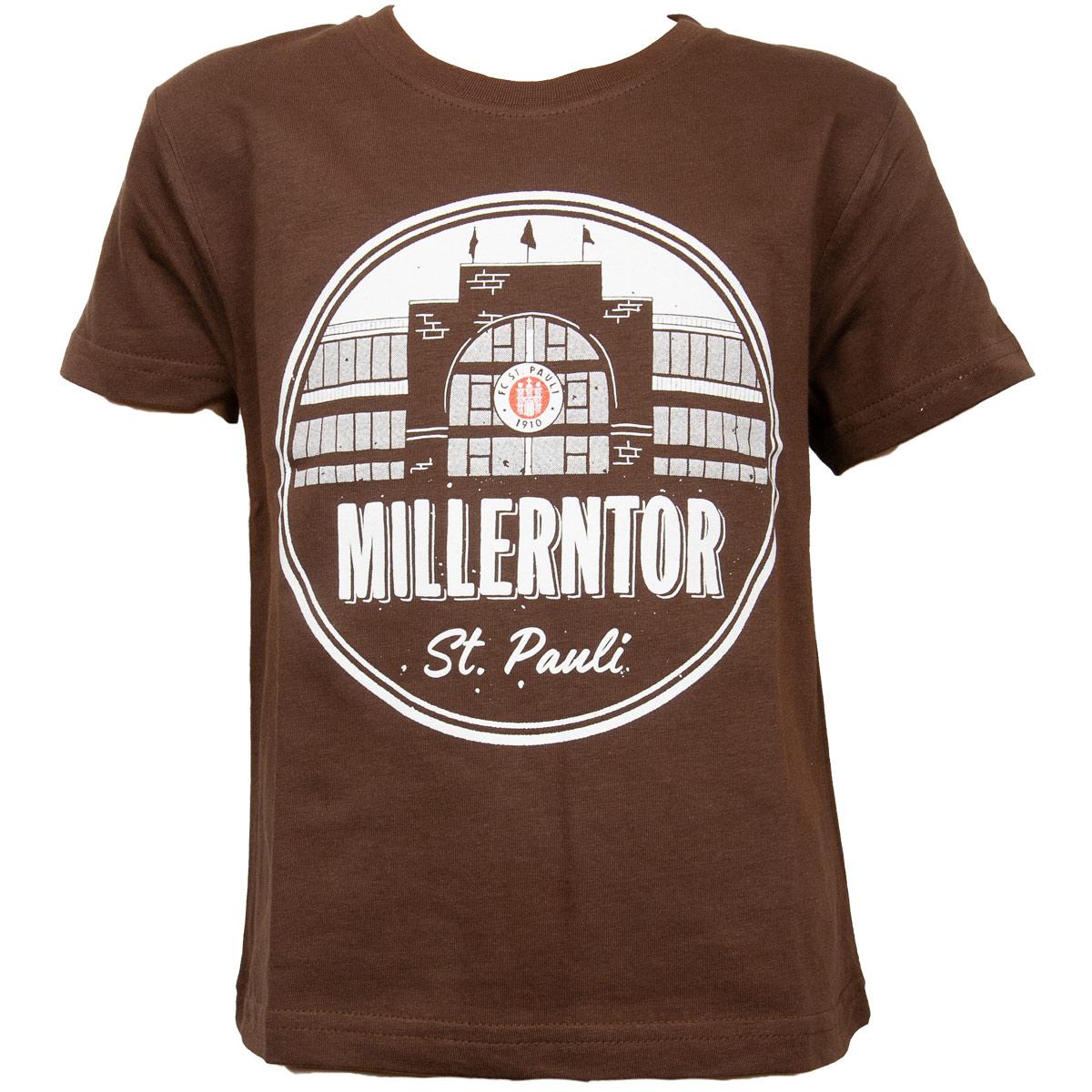 FC St. Pauli - Kinder T-Shirt Millerntor - braun