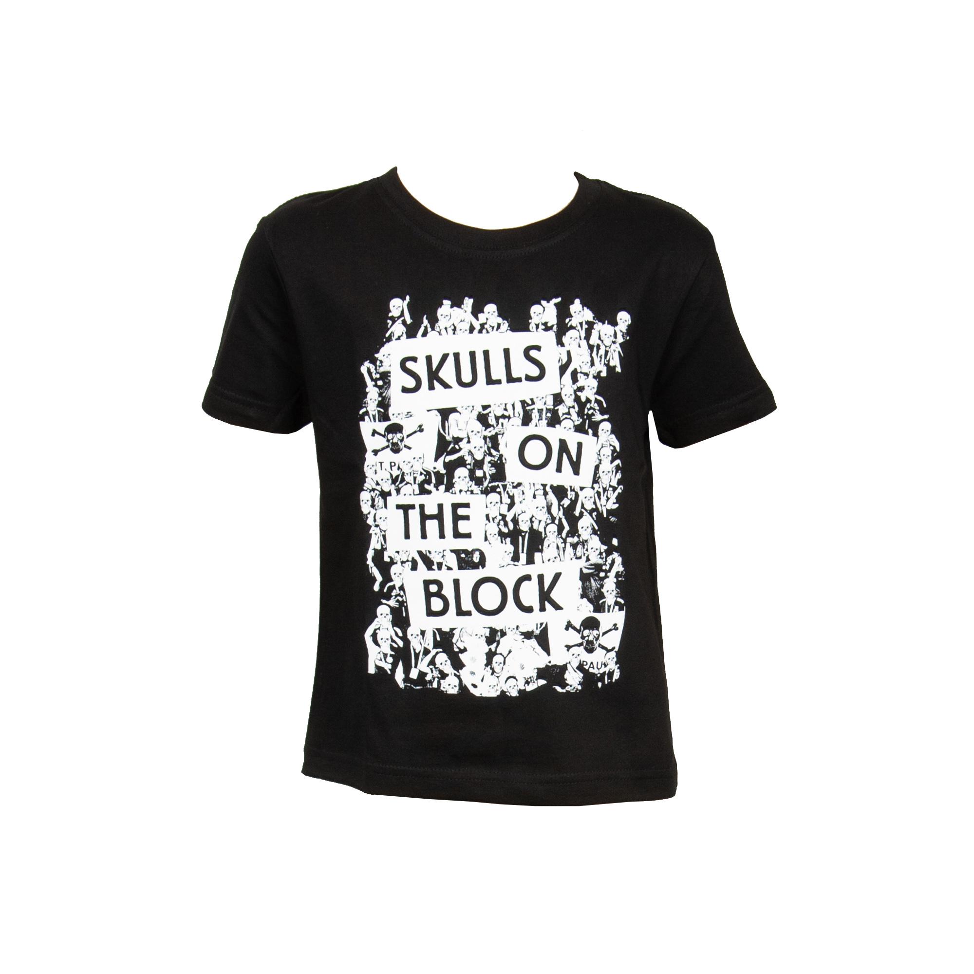 FC St. Pauli - Kinder T-Shirt Skulls - schwarz