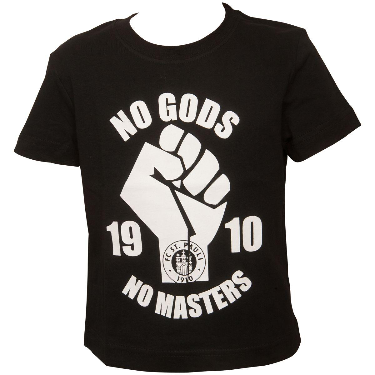 FC St. Pauli - Kinder T-Shirt No Gods - schwarz