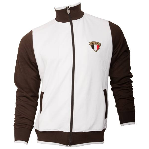 FC St. Pauli - Trainingsjacke Tricolor - weiß