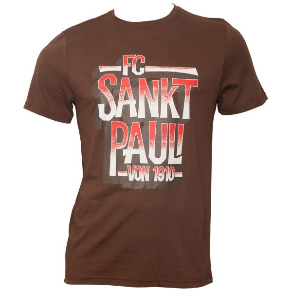 FC St. Pauli - T-Shirt Block St. Pauli 1910 - braun