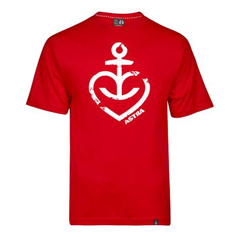 Astra - Herren T-Shirt Herzanker - rot